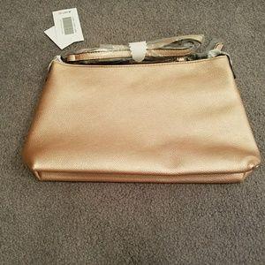 BRAND NEW Pink Metallic clutch/purse